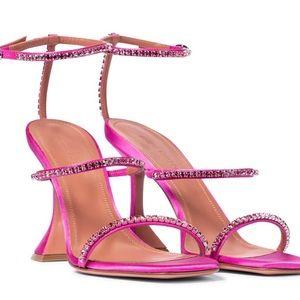 Amina muaddi Gilda Sunset Rainbow Strap Sandal